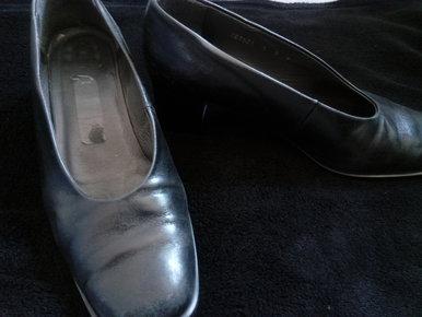 NEU Jane Klain  Business  Sandalette Wildlederoptik  schwarz  Größe   37-39