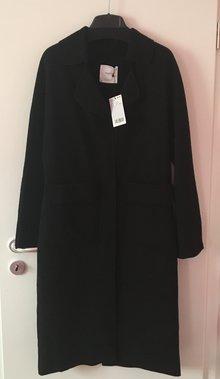 37c85a6054464c NEU schwarzer Mantel von Mango M NEU Langer schwarzer Mantel von Mango