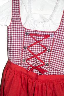 e46fc5e89cae17 Dirndl Wiesn Trachten Trachtenkleid Oktoberfest rot Bluse Schürze Kleid