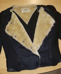 d9e8c0ccb03c03 Jacke von Zara mit Lammfell Imitat