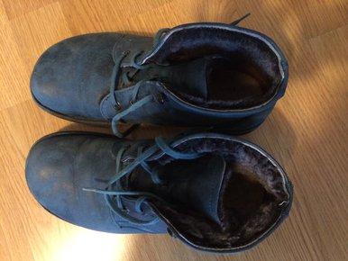 919b95a819e5 Waldviertler Schuhe gefüttert blau ...
