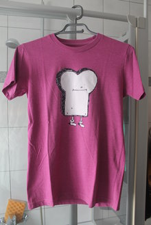 7d027fc8556ee1 Lilanes Mr. Toast-Shirt Cleptomanicx Pink/weiß ...