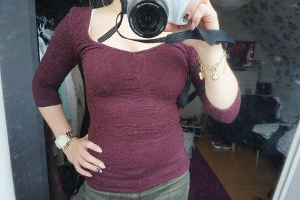 Kleidung & Accessoires Kapuzensweatshirt Von Bershka Größe S Damen Weinrot Kord Warm Flauschig PüNktliches Timing Damenmode