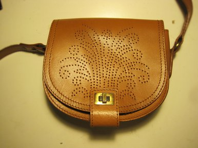 e554e514f60f6 Umhängetasche Leder Muster Schultertasche Vintagelook