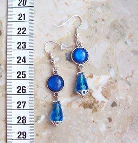 ... eisblaue Steine Tropfen Perlen Silber Gothic Jugendstil viktorianisch