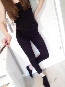 225c9196f0d5f8 Skinny Jeans Hose schwarz H&M 36 S Abendkleid Abiball Abschluss Laona 34 XS