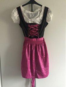 fcb79043fb8ce Dirndl pink schwarz von Marjo Wirkes Größe 40 ...