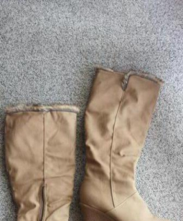 Stiefel Winterstiefel warmes Fell Futter, beige nude Größe 37 - NEU! 2fb591434e