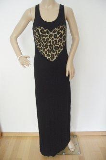 Longshirt//Kleid mit Sticks und Pailletten army grün Onesize Gr.40-42